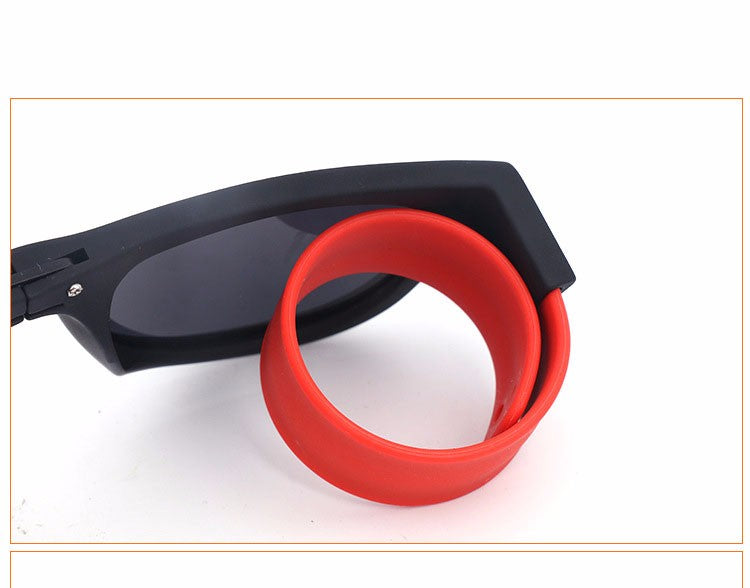 Coolest Unisex wristband slap Sunglasses for Men Women-Fashion & Travel accessory - WowmeZone