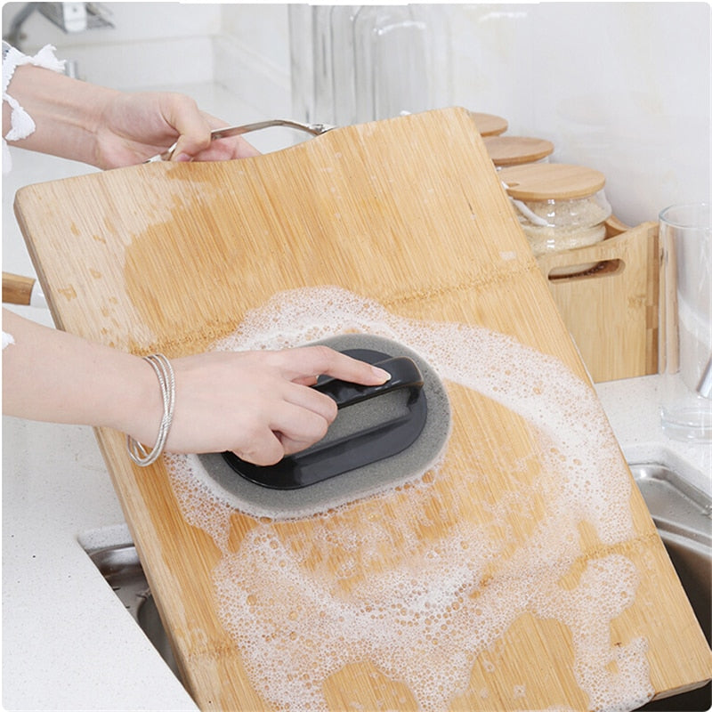 Strong Decontamination Bath Brush Sponge Tiles Brush Hot Sale Magic Strong Decontamination Bath Brush Kitchen Clean Tools - WowmeZone