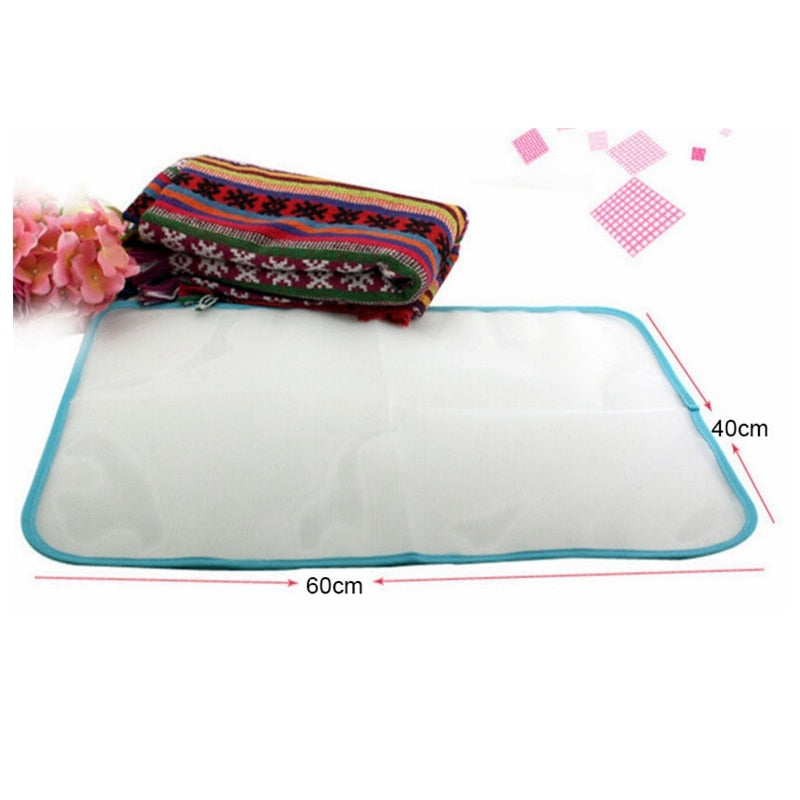1PCS 40x60cm Protective Press Mesh Ironing Cloth Guard Protect Delicate Garment Clothes - WowmeZone