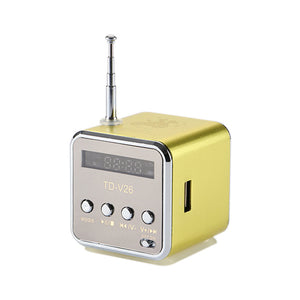 Mini Speaker Portable MP3 Music Player with LCD Support FM Radio Micro TF SD Stereo Loudspeaker for Laptop Phone - WowmeZone