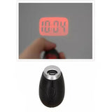 Hot Cute Portable Digital Time Projection Clock Mini LED Watch Night Light Projector Flashlight With Hanging Rope LXY9 JA02 - WowmeZone