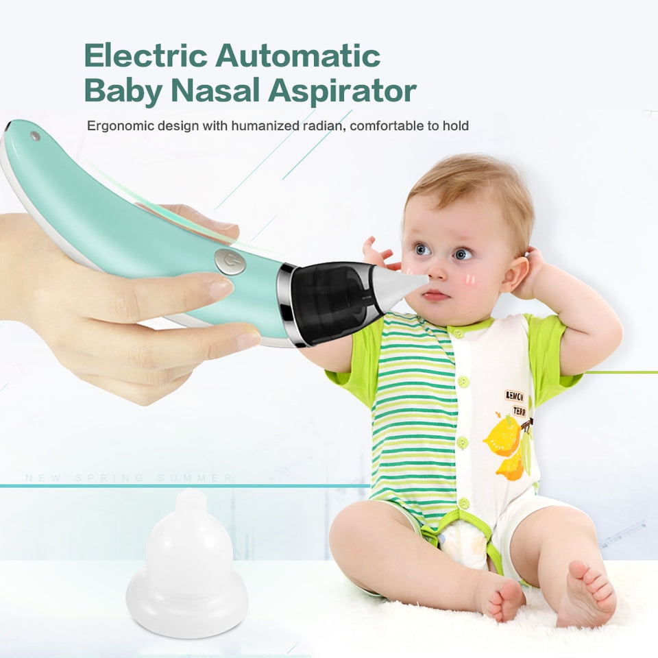 Baby Nasal Aspirator Electric Safe Hygienic Nose Cleaner With 2 Sizes Of Nose Tips And Oral Snot Sucker For Newborns Boy Girls - WowmeZone
