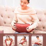 LaGuerir Home Car U Shape Electrical Shiatsu Back Neck Shoulder Body Massager Infrared Heated Kneading Car/Home Massagem - WowmeZone