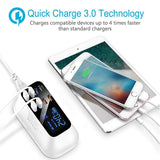 Quick Charge 3.0 Smart USB Type C Charger Station Led Display Fast Charging Power Adapter Desktop Strip Mobile Phone USB Charger - WowmeZone