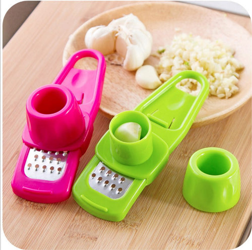 Multifunctional Ginger Garlic Press Grinding Grater Planer Slicer Mini Cutter - WowmeZone