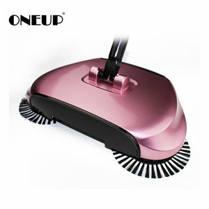 Stainless Sweepers Sweeping Machine Push Type Steel Hand Push Hand Push Magic Broom Sweepers Dustpan Household Cleaning Tools - WowmeZone