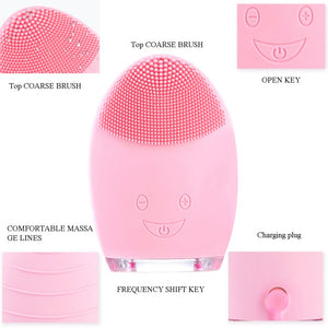 Face Cleaning Mini Electric Massage Brush Washing Machine Waterproof Silicone Cleansing Tools - WowmeZone