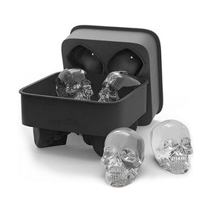3D Skull Ice Cream Mold Kitchen Form for ice Silicone Chocolate Tray Cake Candy Mold Bar Party Cool Whiskey Wine Ice Cream Tools - WowmeZone