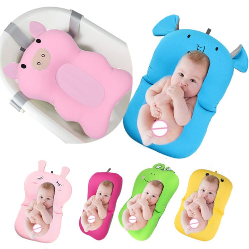 Baby bath tub Newborn Baby Foldable Baby bath tub pad & chair & shelf newborn bathtub seat infant  support Cushion mat bath mat - WowmeZone