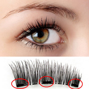 3 Magnets False Eyelashes Magnetic Natural Set - WowmeZone