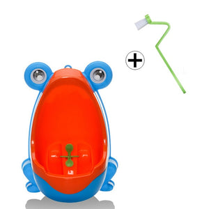 Kids Frog Potty Toilet Urinal Pee Trainer Wall-Mounted Toilet Pee Trainer Penico Pinico Children Baby Boy Bathroom Frog Urinal - WowmeZone