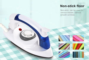 Mini Portable Foldable Electric Steam Iron For Clothes With 3 Gears Teflon Baseplate Handheld Flatiron For Home Travelling - WowmeZone