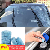 1PCS =4L Liplsating Car Windshield Cleaning Car Accessories Glass Cleaner Car Solid Wiper Fine Wiper Car Auto Window Cleaning - WowmeZone