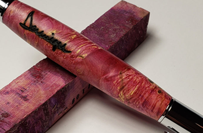 Every Agent Needs a Pen Guy! - Pink Box Elder, Chrome 360