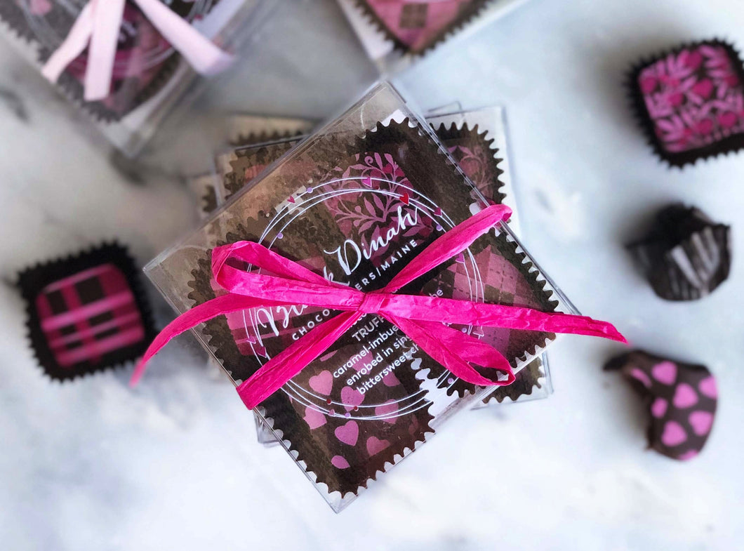 Mother's Day Dark Chocolate Caramel Truffles