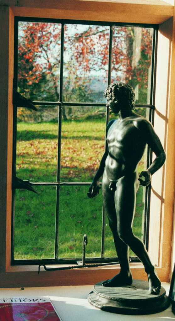 Antinous Standing In Basalt Black