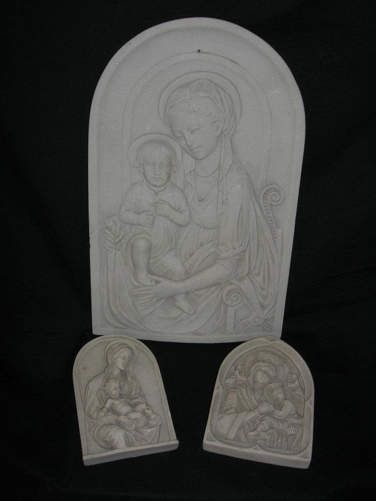 Religious relic reliefs, set of 3.