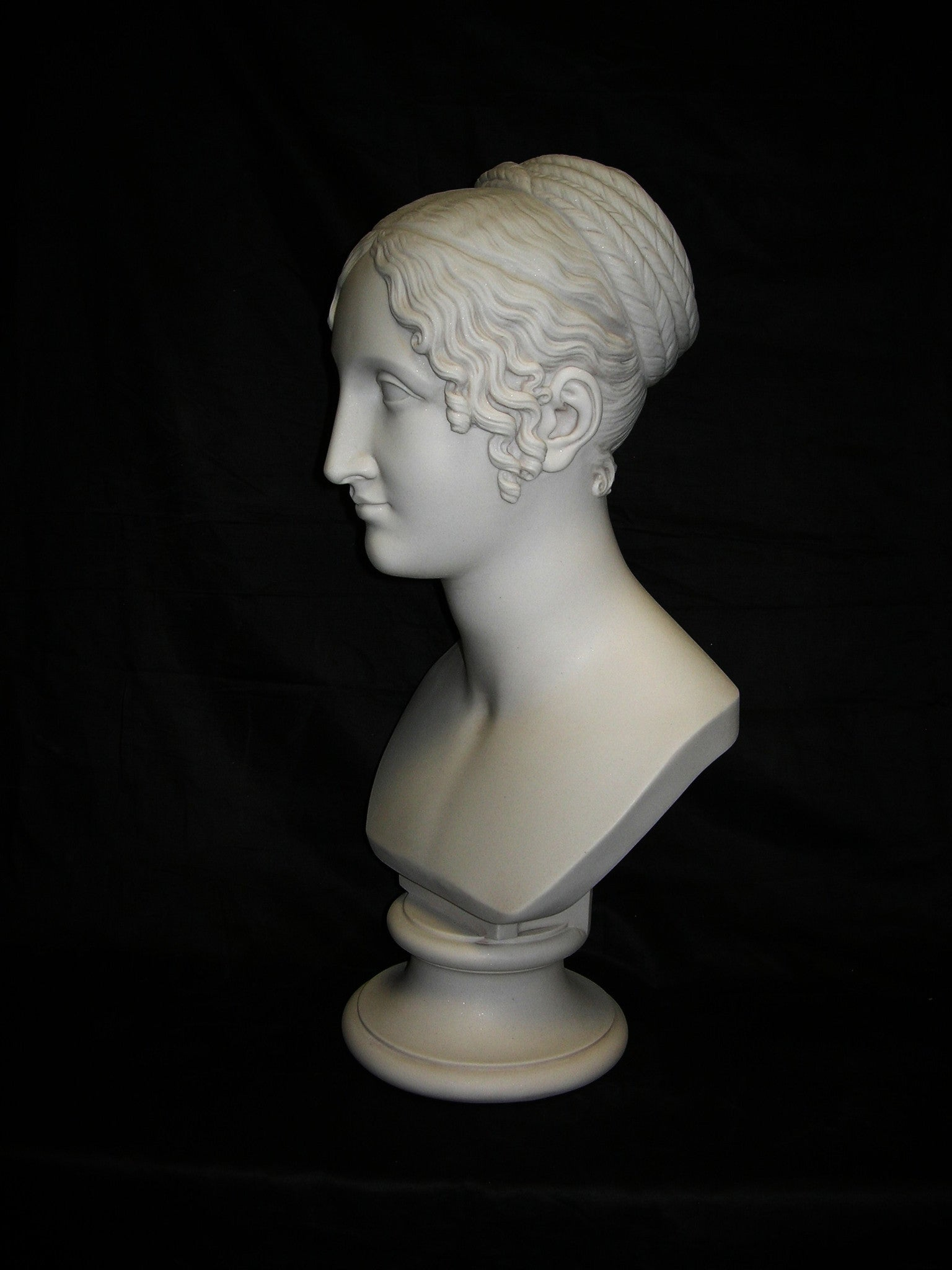 Girl With Pleated Hair Bust