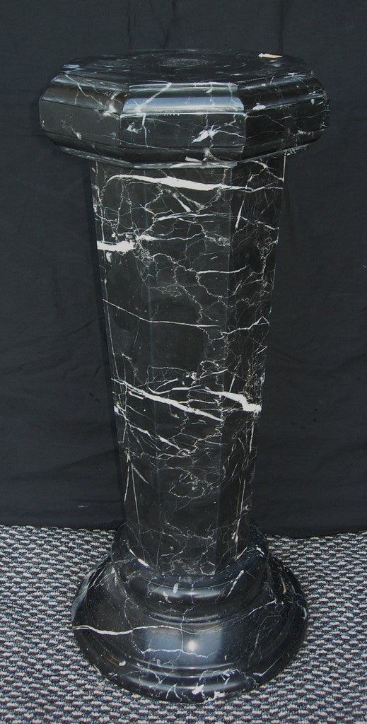 Black Marguina Marble Column 65cm