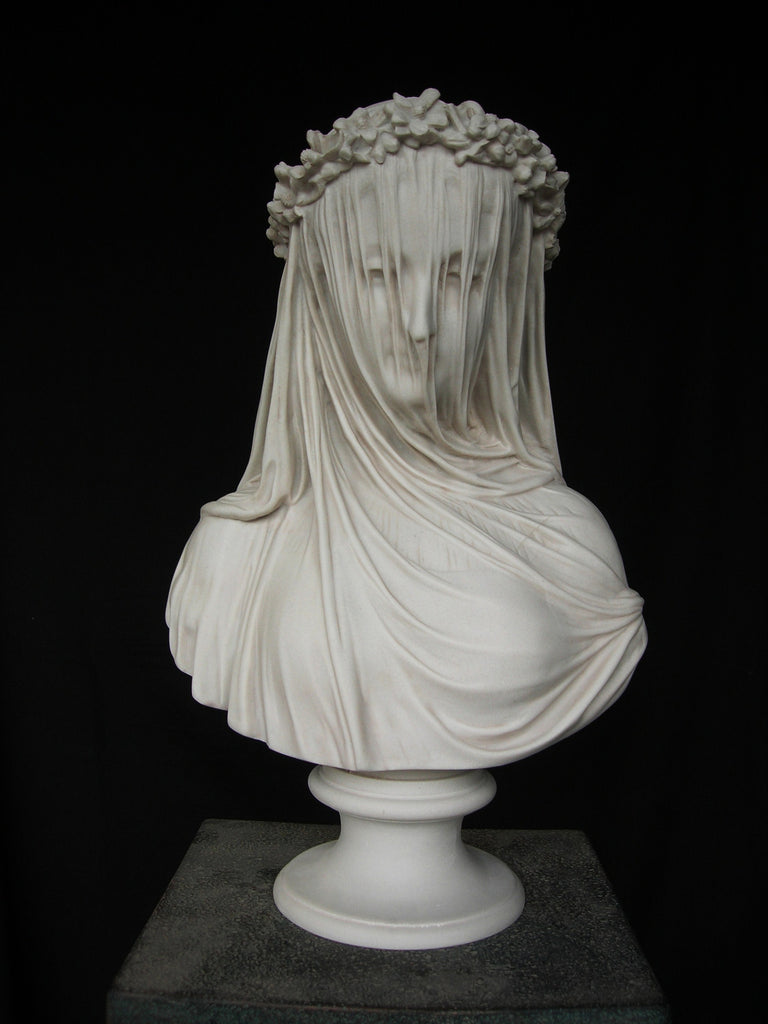 Hermes Statue Head Marble Sculpture by Sc...
