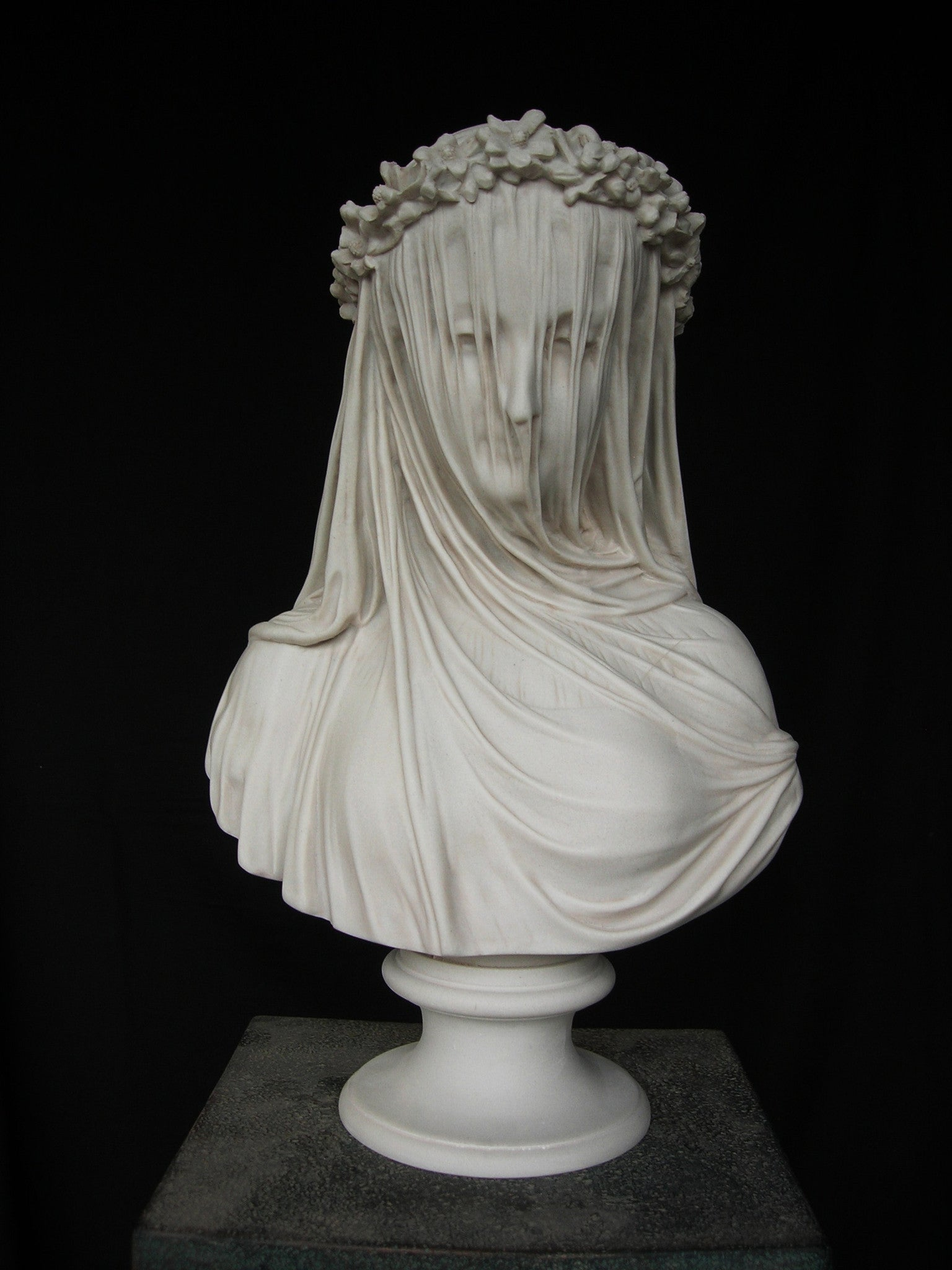 Marble Sculpture By Sculptured Arts Studio Veiled Lady