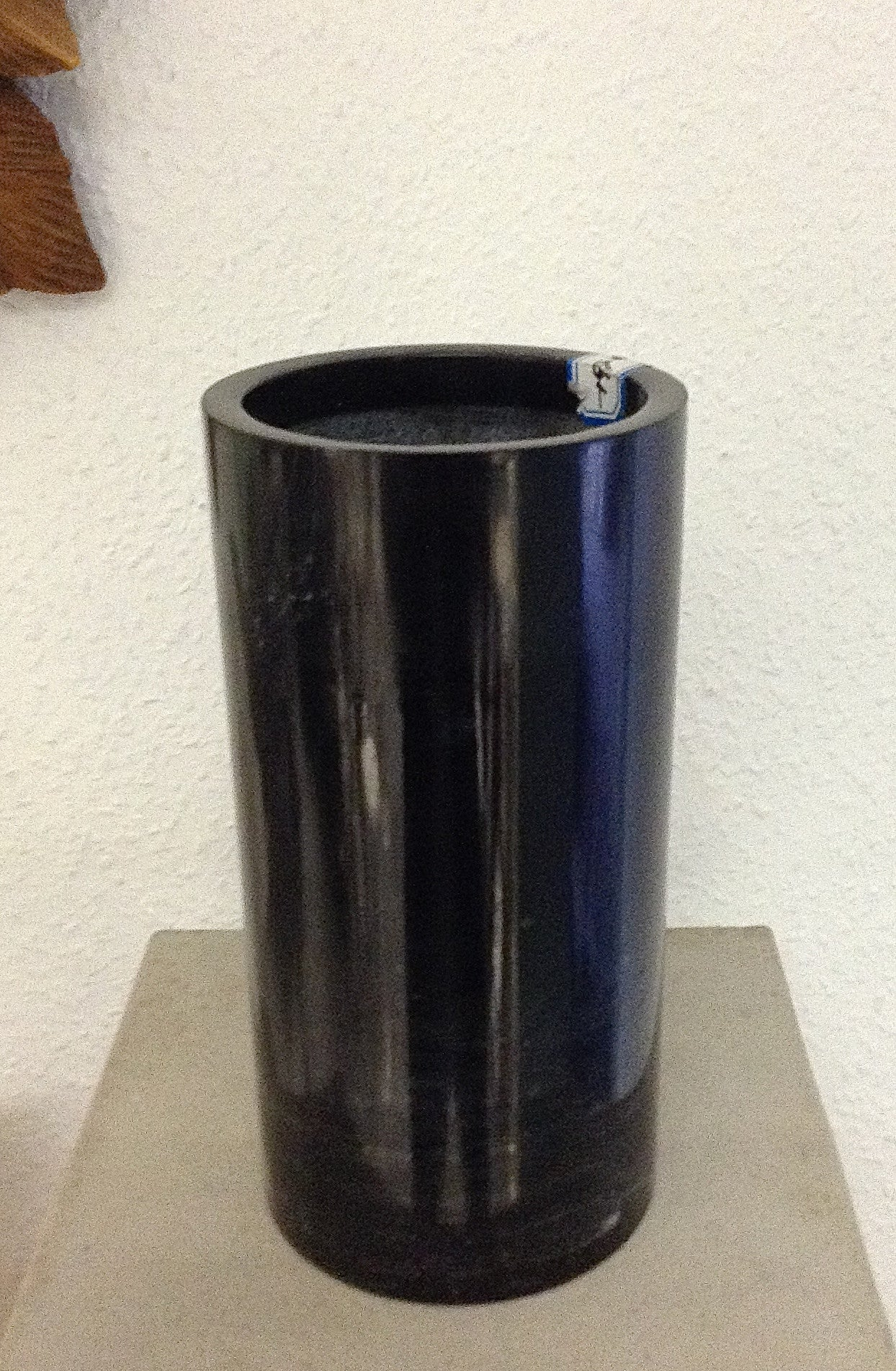 Ancient Black Marble Pencil Vase