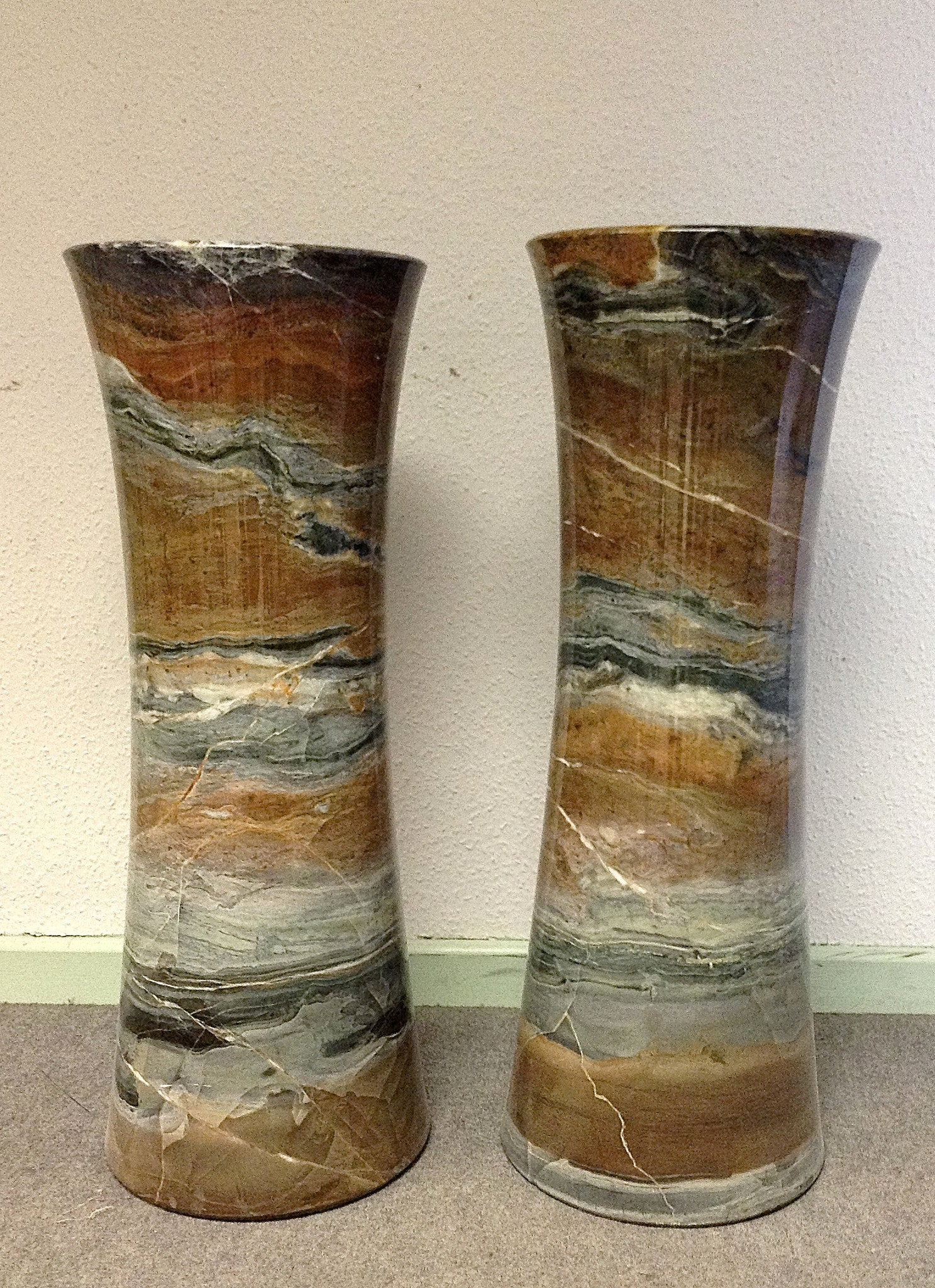 Pair Large Pencil Vase`s