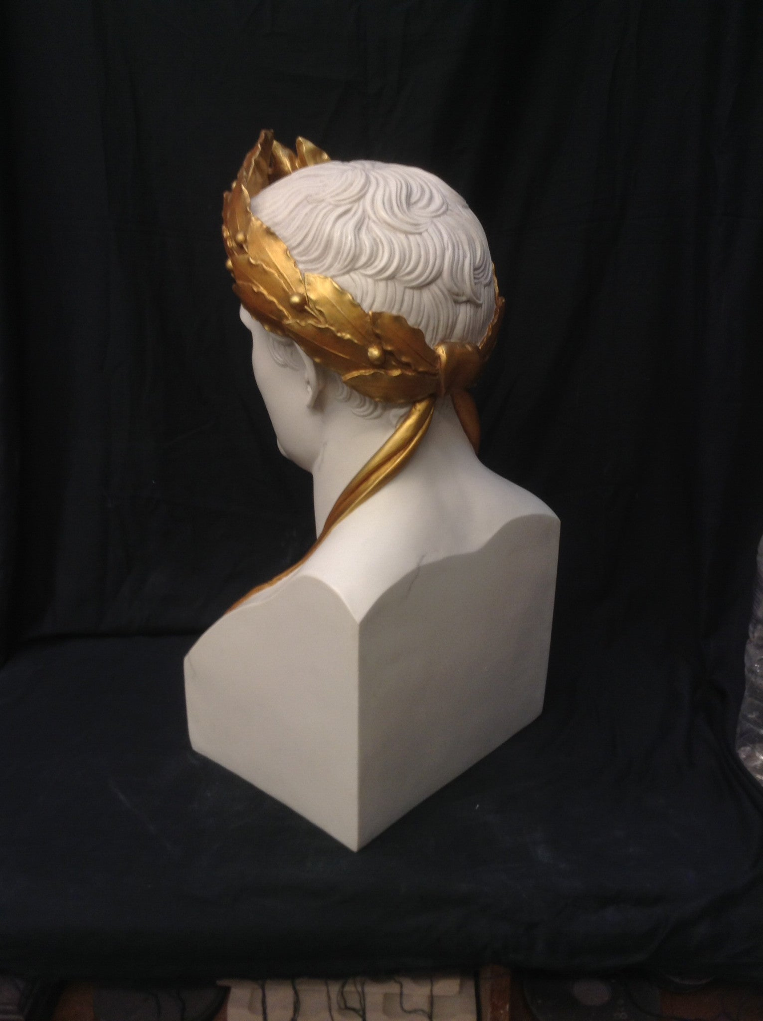 Napoleon As Caesar White With Antique Gilt Wreath.