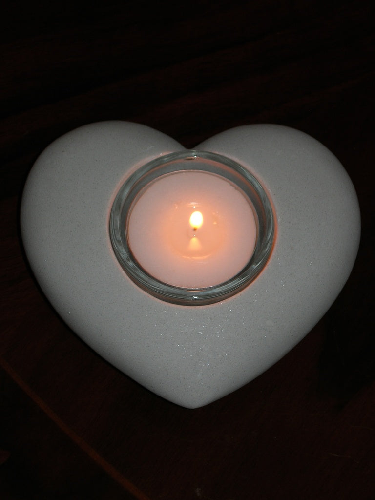 Marble Heart Table Light