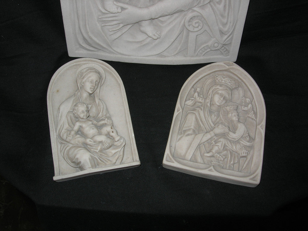 Set of 3 relic plaques.