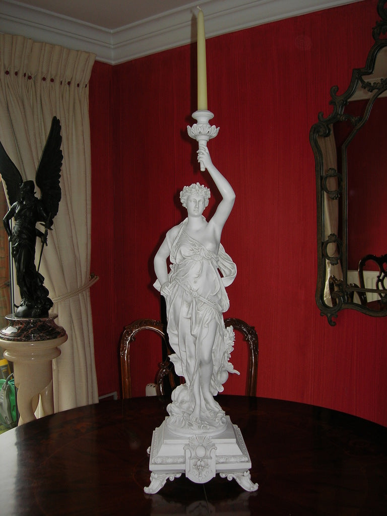 Classical lady With Candle Mount