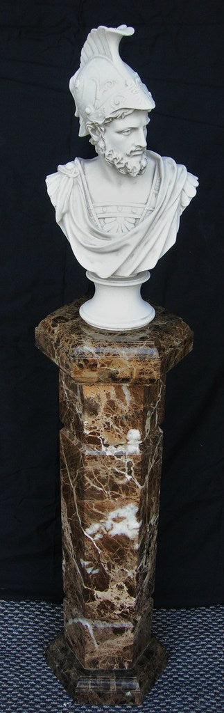 Aran Brown Marble column 69 cm