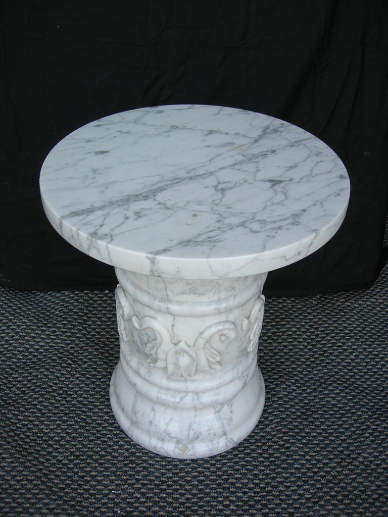 White Italian veined Marble Table