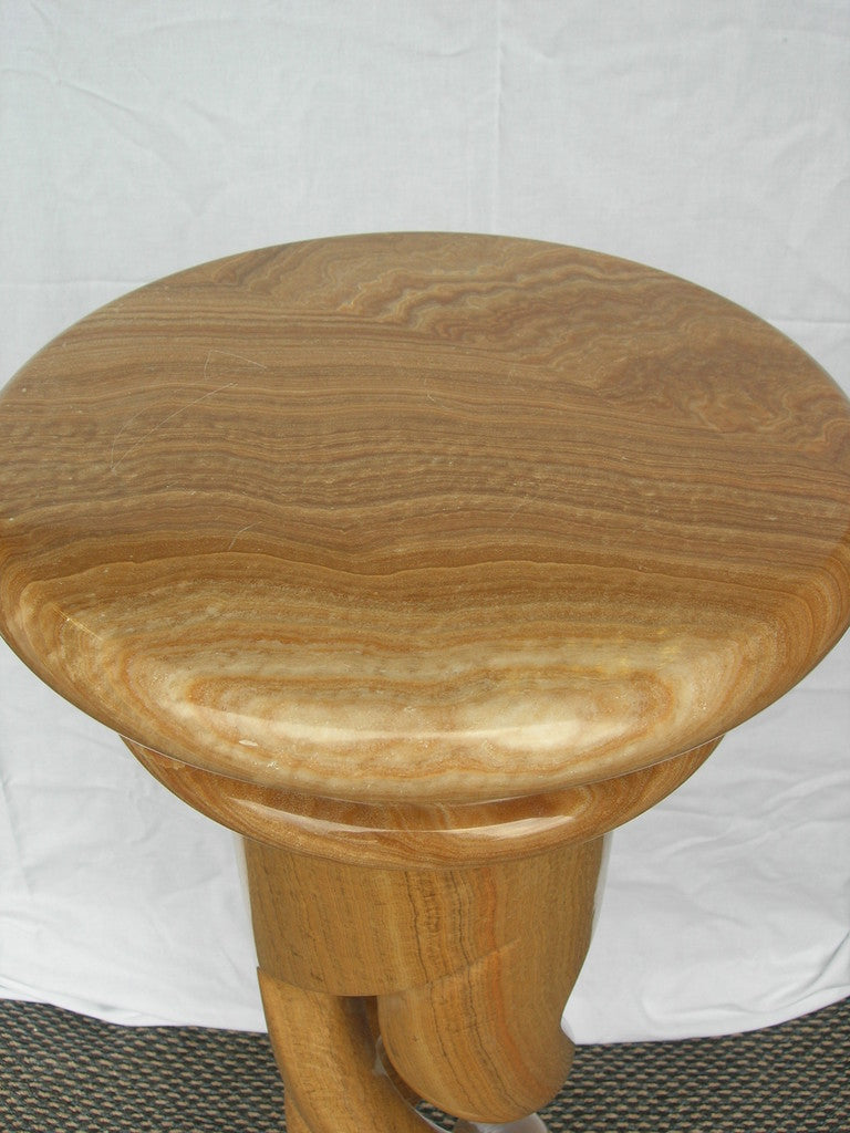 Burmese Wood Marble twist Column