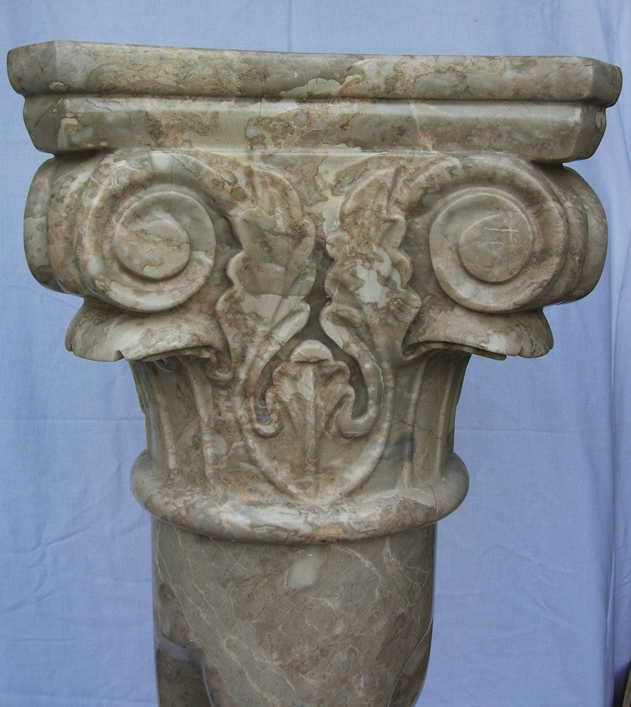 Mountain Camelia Twist Column With Roman Head