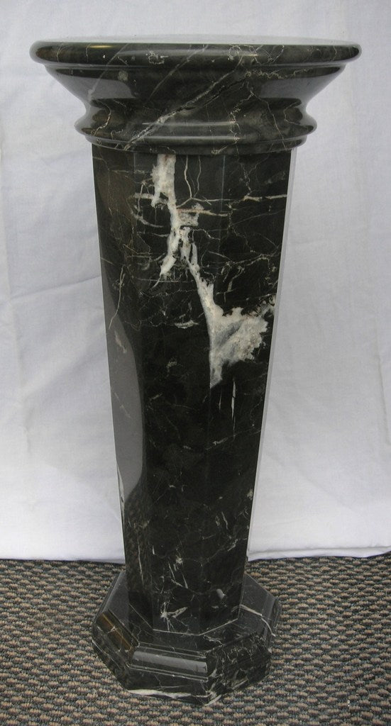 Black Marguina Marble column 58 cm