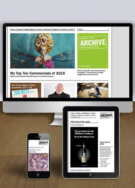Lürzer's Archive Digital Access -  Annual Subscription