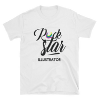 Short-Sleeve Unisex KreativeKlub Rock Star Illustrator T-Shirt