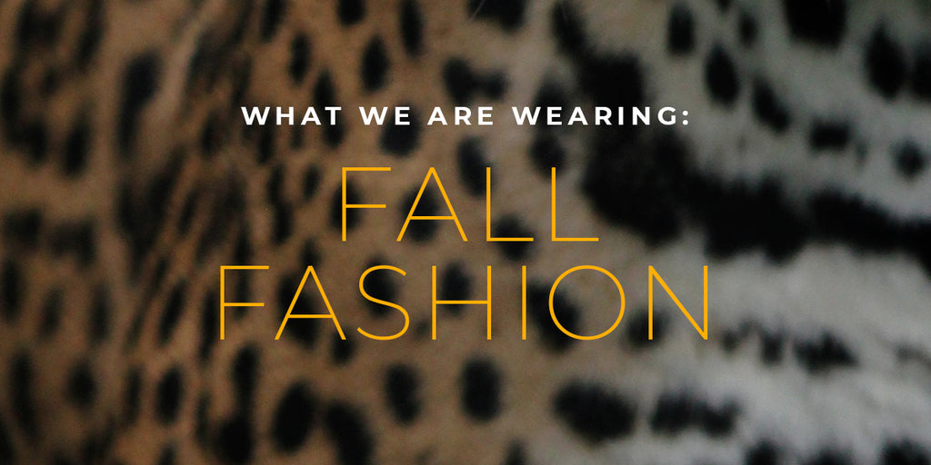 What We Are Wearing: Fall Fashion