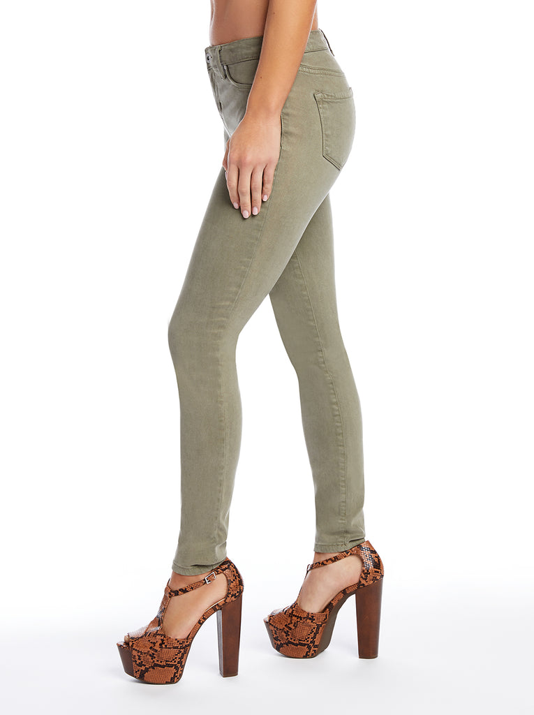 Kiss Me Ankle Skinny Jeans in Deep Lichen Green