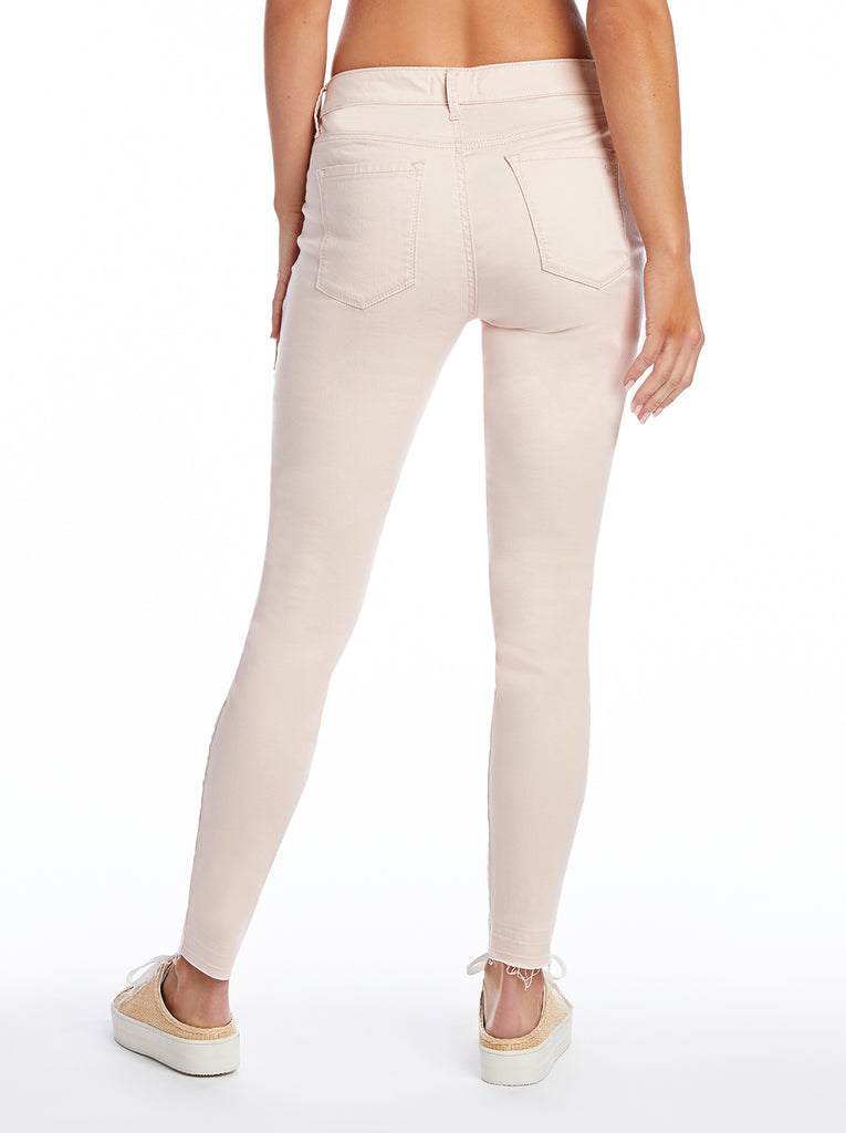 Kiss Me Ankle Skinny Jeans in Peach Blush