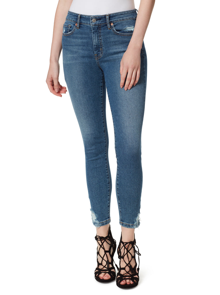 Adored High Rise Ankle Skinny Jeans in Three Times