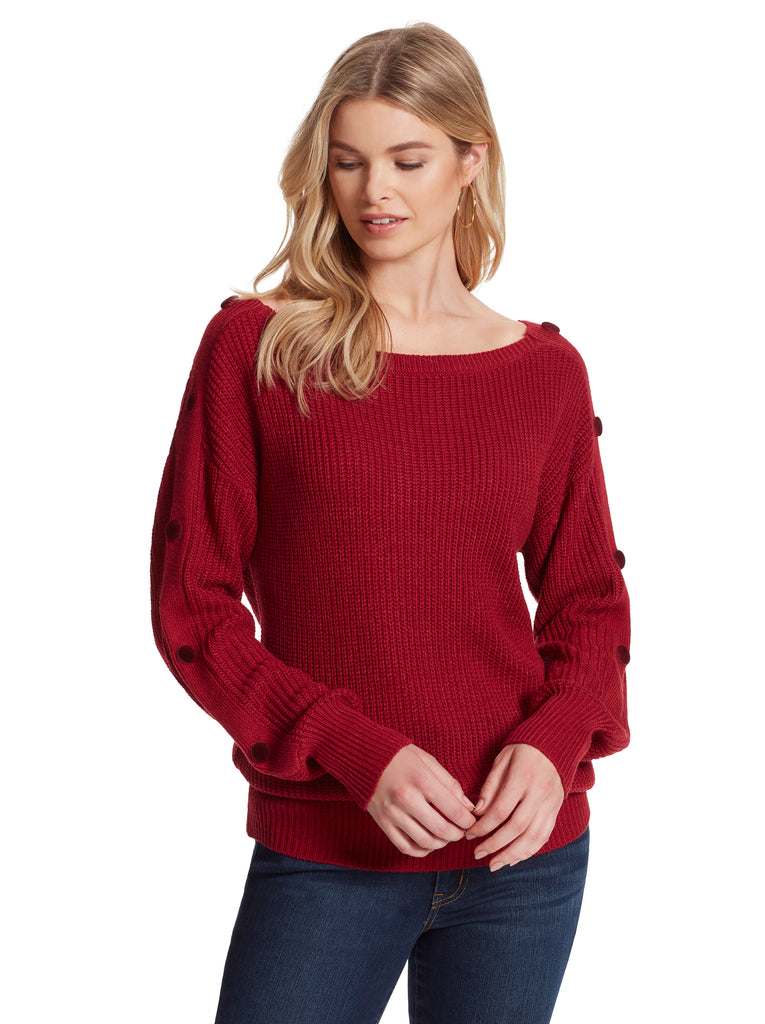 Adley Sweater in Rio Red