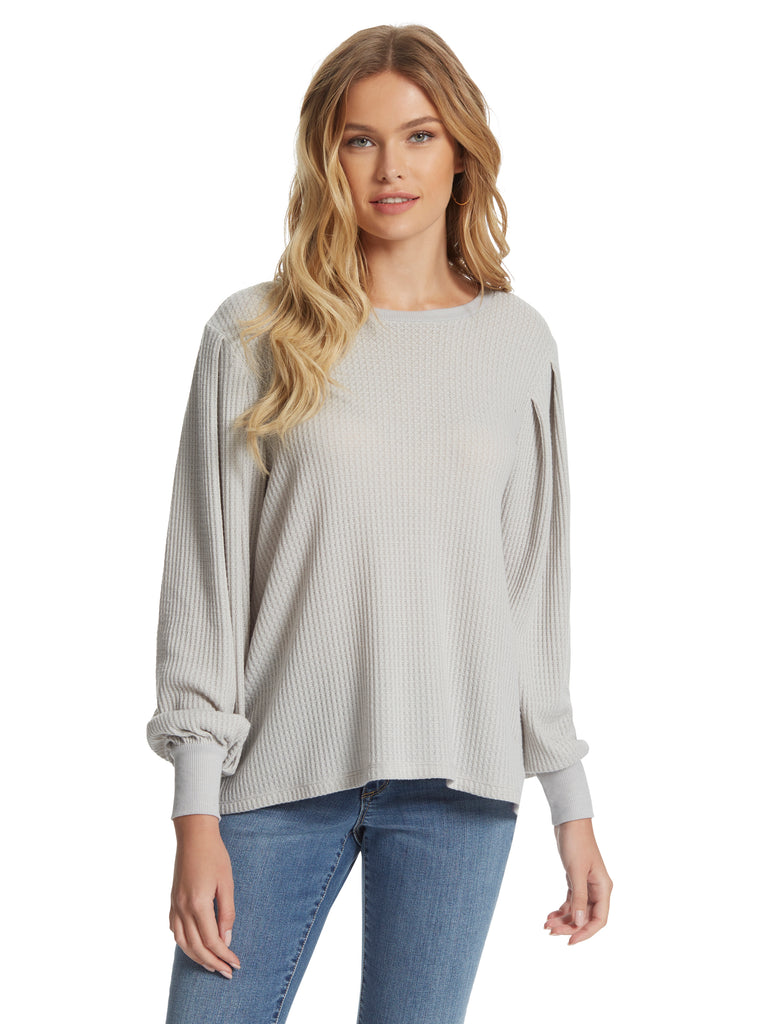 Wilder Top in Light Heather Grey