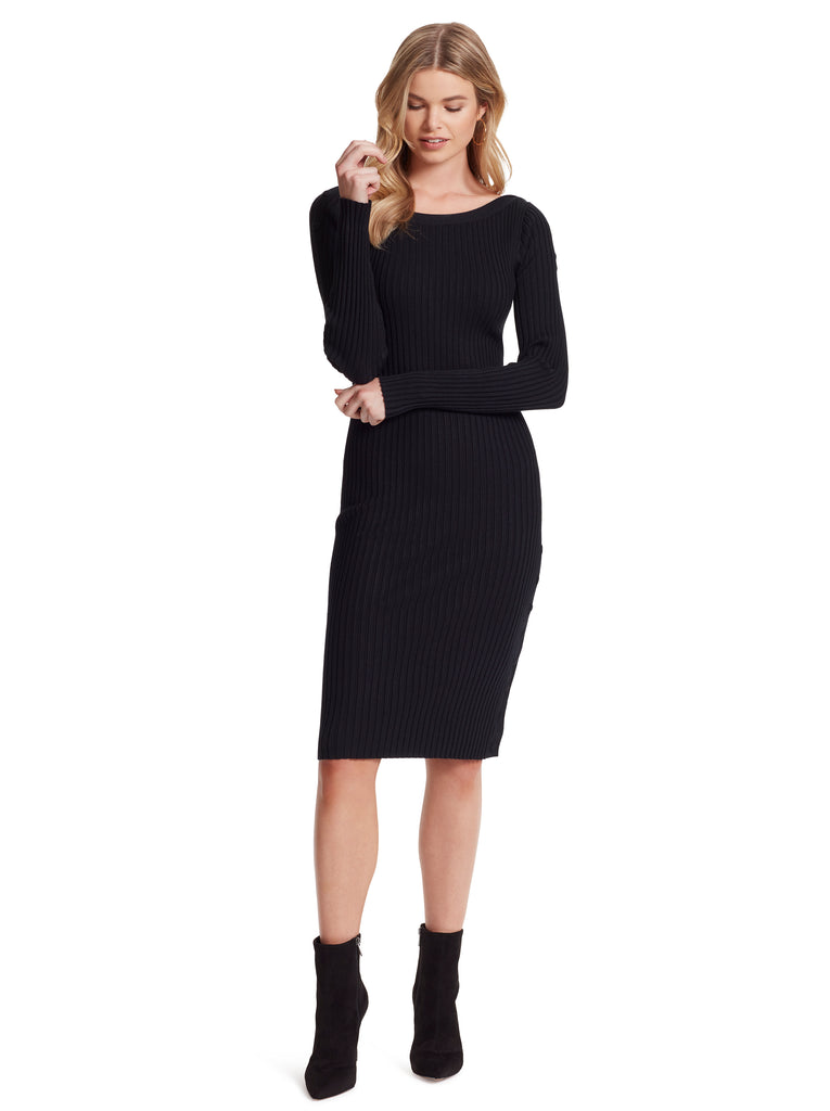 Madeleine Sweater Dress in Black
