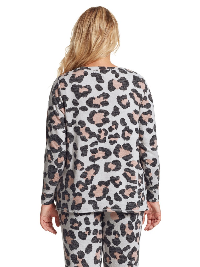 Lisa Pullover in Giant Cheetah