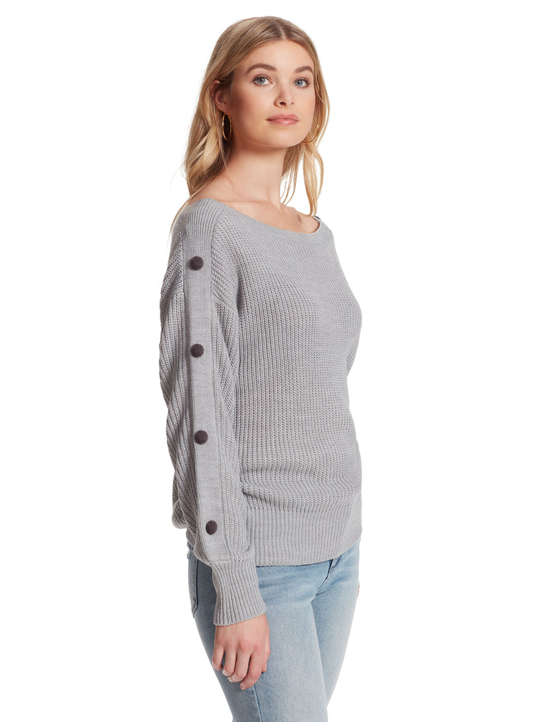 Adley Sweater in Light Heather Grey
