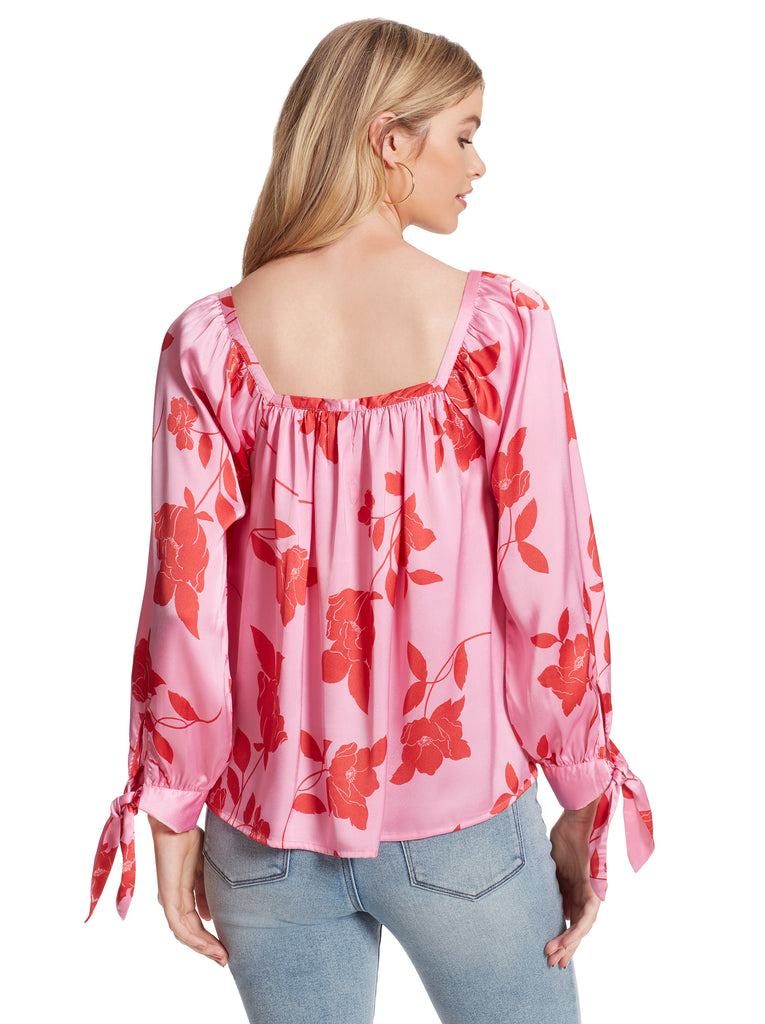 Trey Top in Fuchsia Pink