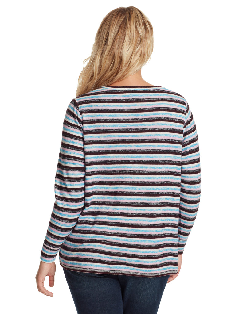 Lisa Pullover in Multi Stripe