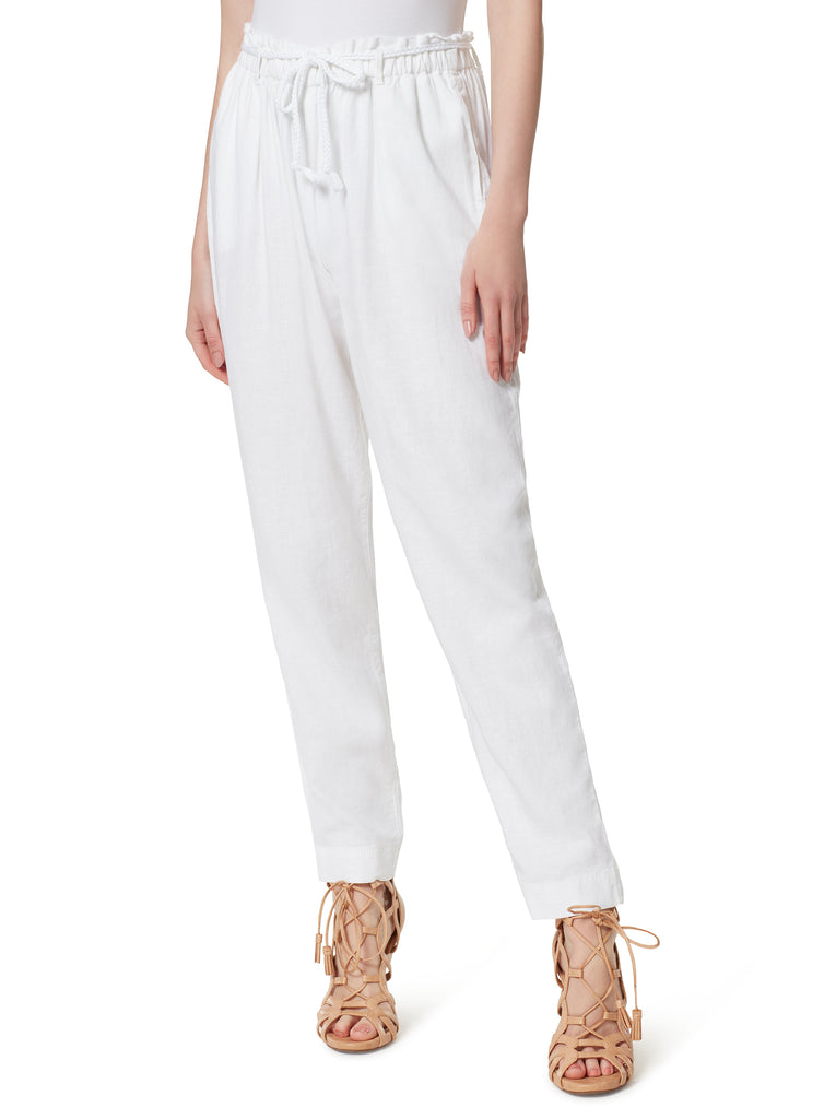 Tapered Beach Pant in White